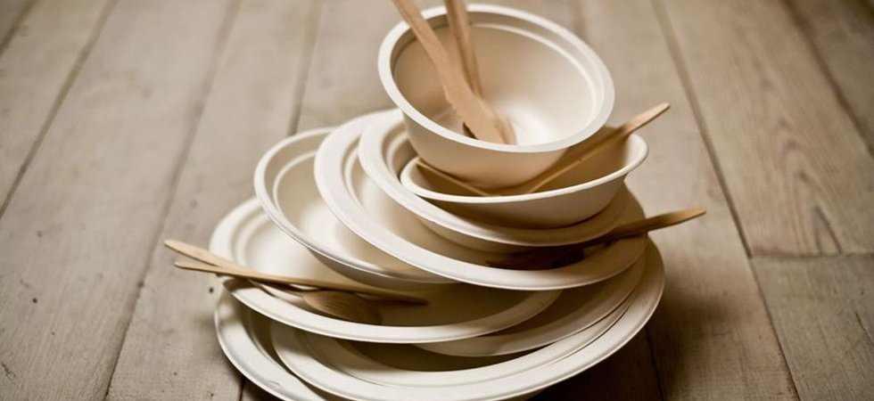 посуда из тростника